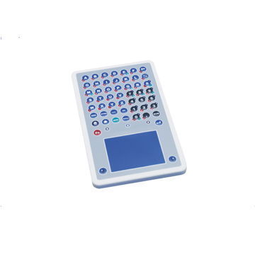 GeBE Picture Folientastatur PC Tischtastatur mit Touchpad, IP65, USB, Made in Germany (GFT-51)