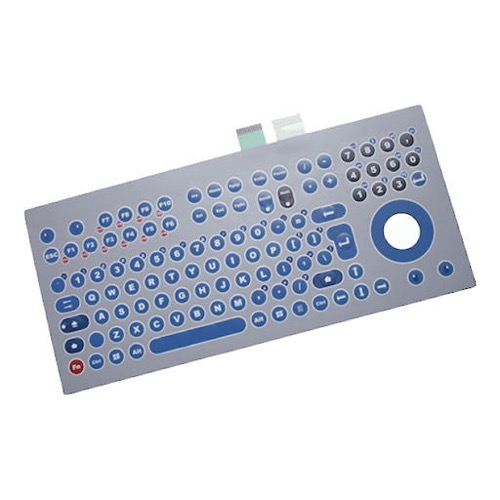GeBE Picture Flexible PC Matrix Tastaturfolie mit Trackball, USB, Made in Germany (GFT-105-Matrix)